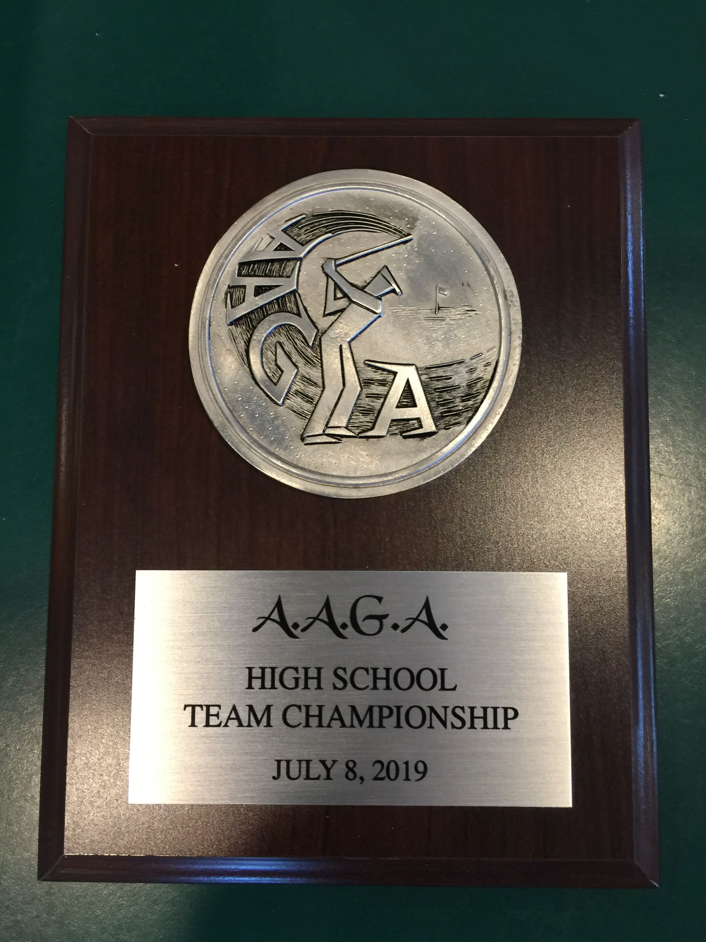 AAGA High School Shootout Plaque